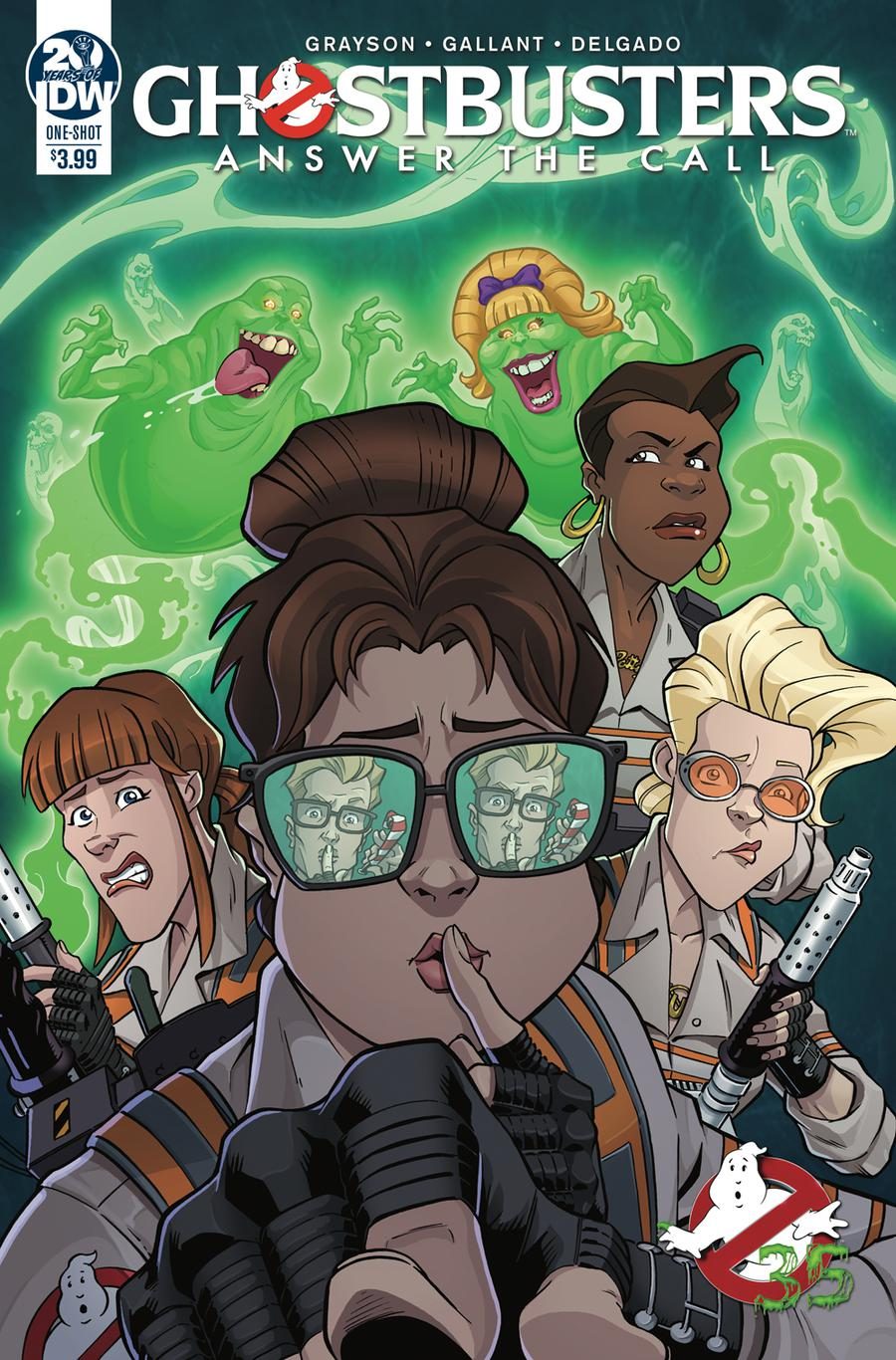 Ghostbusters 35th Anniversary Answer The Call Ghostbusters Cover A Regular SL Gallant Cover
