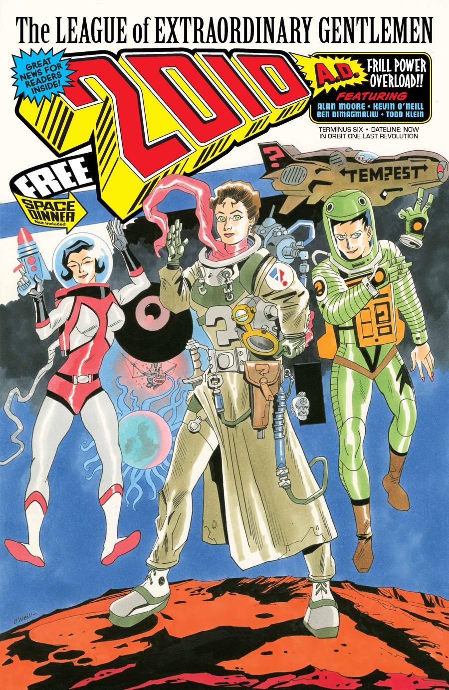 League Of Extraordinary Gentlemen Tempest #6 Cover A Regular Kevin ONeill Cover