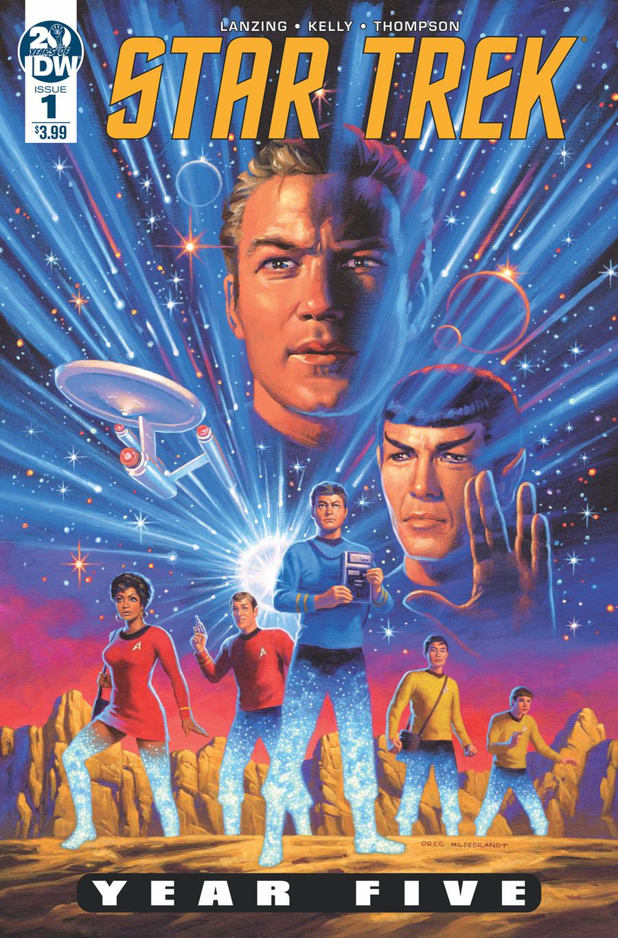 Star Trek Year Five #1 Cover A Regular Greg Hildebrandt Cover