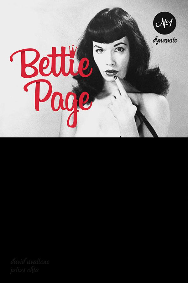 Bettie Page Unbound #1 Cover G Variant Photo Cover Black Bag Edition With Polybag