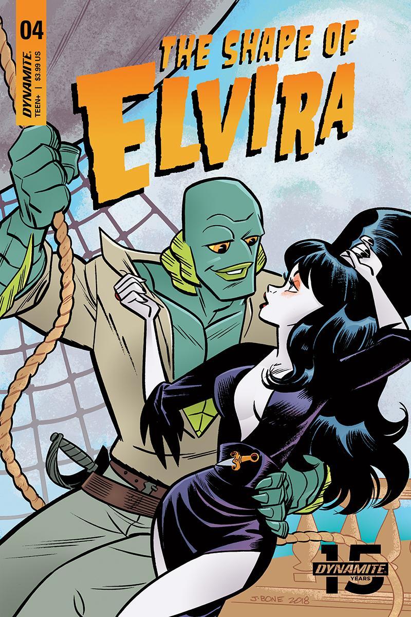 Elvira Shape Of Elvira #4 Cover B Variant J Bone Cover
