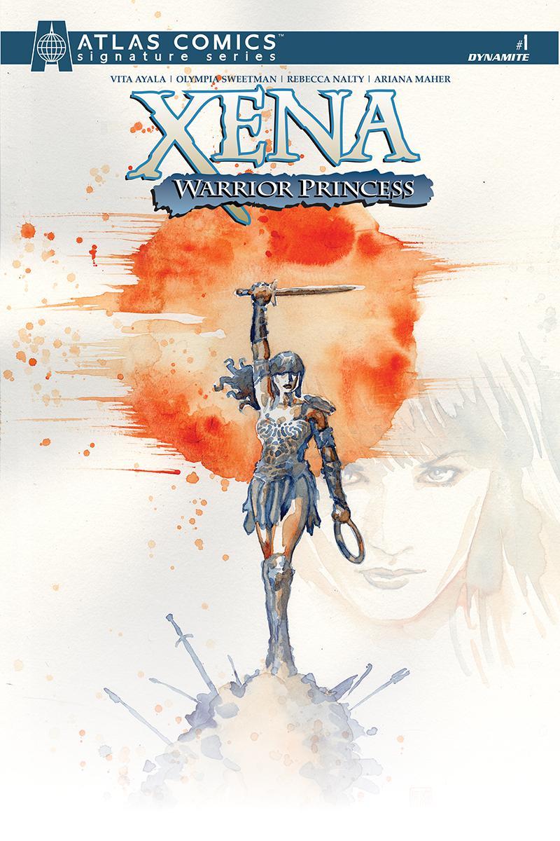 Xena Warrior Princess Vol 4 #1 Cover M Atlas Comics Signature Series Signed By Vita Ayala
