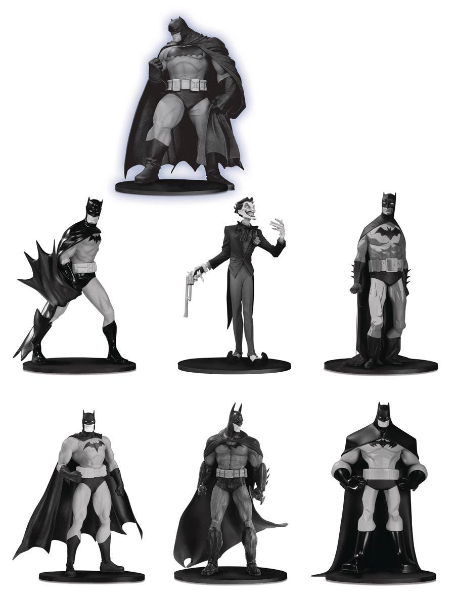 Batman Black & White Mini PVC Figure 7-Pack Box Set 03