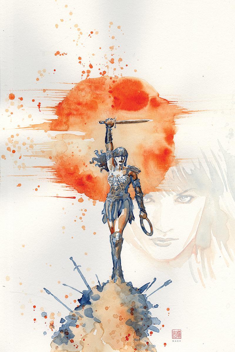 Xena Warrior Princess Vol 4 #1 Cover G Incentive David Mack Virgin Cover