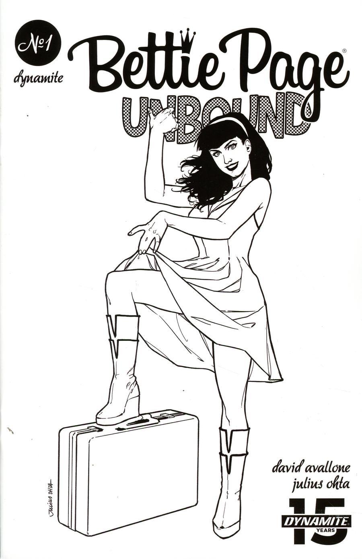 Bettie Page Unbound #1 Cover L Incentive Julius Ohta Black & White Cover