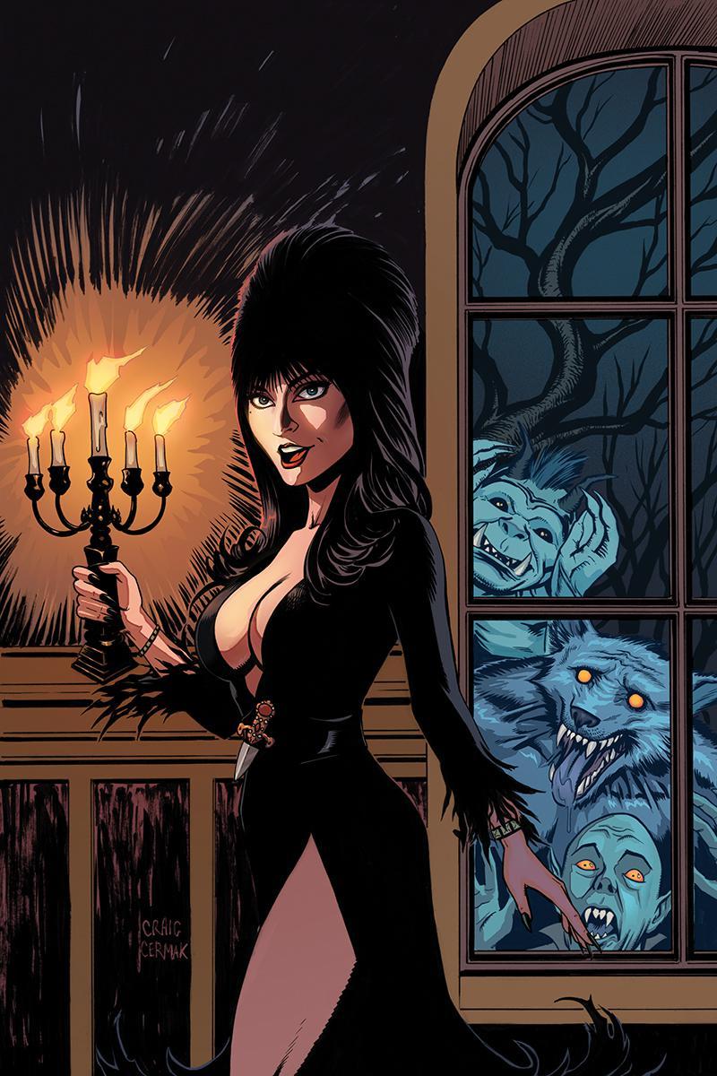 Elvira Mistress Of The Dark Vol 2 #9 Cover F Incentive Craig Cermak Virgin Cover