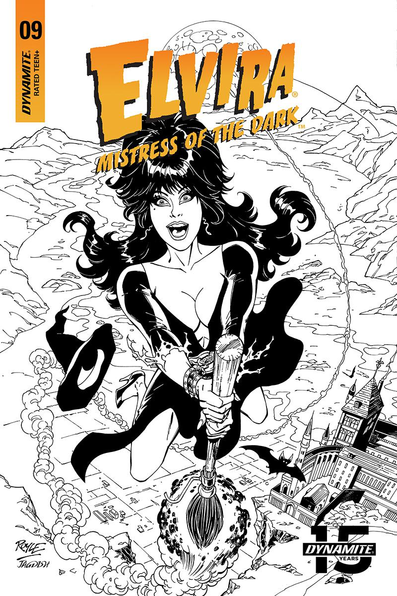 Elvira Mistress Of The Dark Vol 2 #9 Cover I Incentive John Royle Black & White Cover
