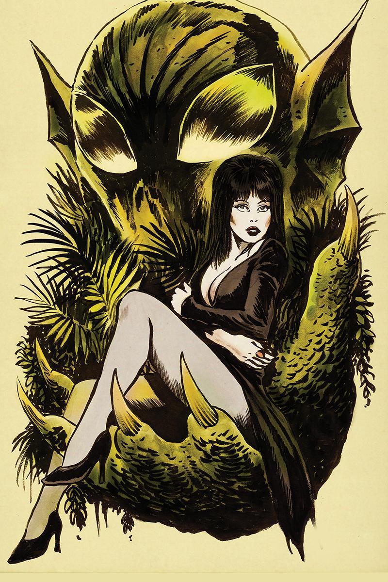 Elvira Shape Of Elvira #4 Cover E Incentive Francesco Francavilla Virgin Cover