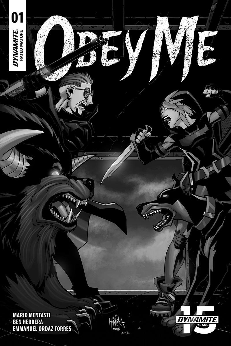 Obey Me #1 Cover C Incentive Ben Herrera Black & White A Cover