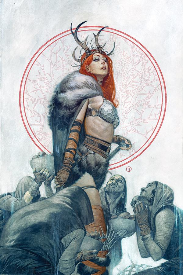 Red Sonja Vol 8 #3 Cover I Incentive Julian Totino Tedesco Virgin Cover