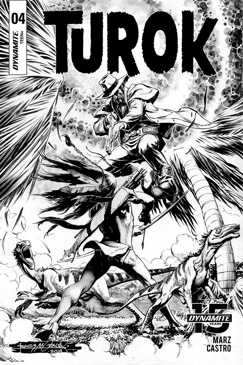 Turok Vol 3 #4 Cover C Incentive Rags Morales Black & White Cover