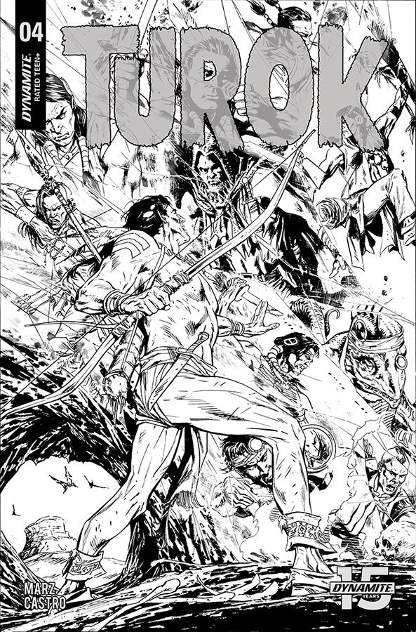 Turok Vol 3 #4 Cover D Incentive Butch Guice Black & White Cover