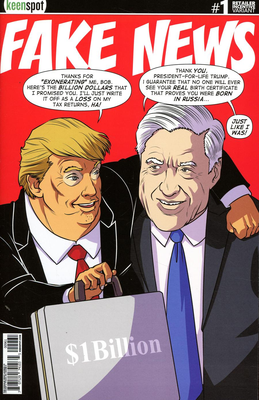 Donald Who Laughs #1 Cover F Variant Shawn Remulac Fake News Cover