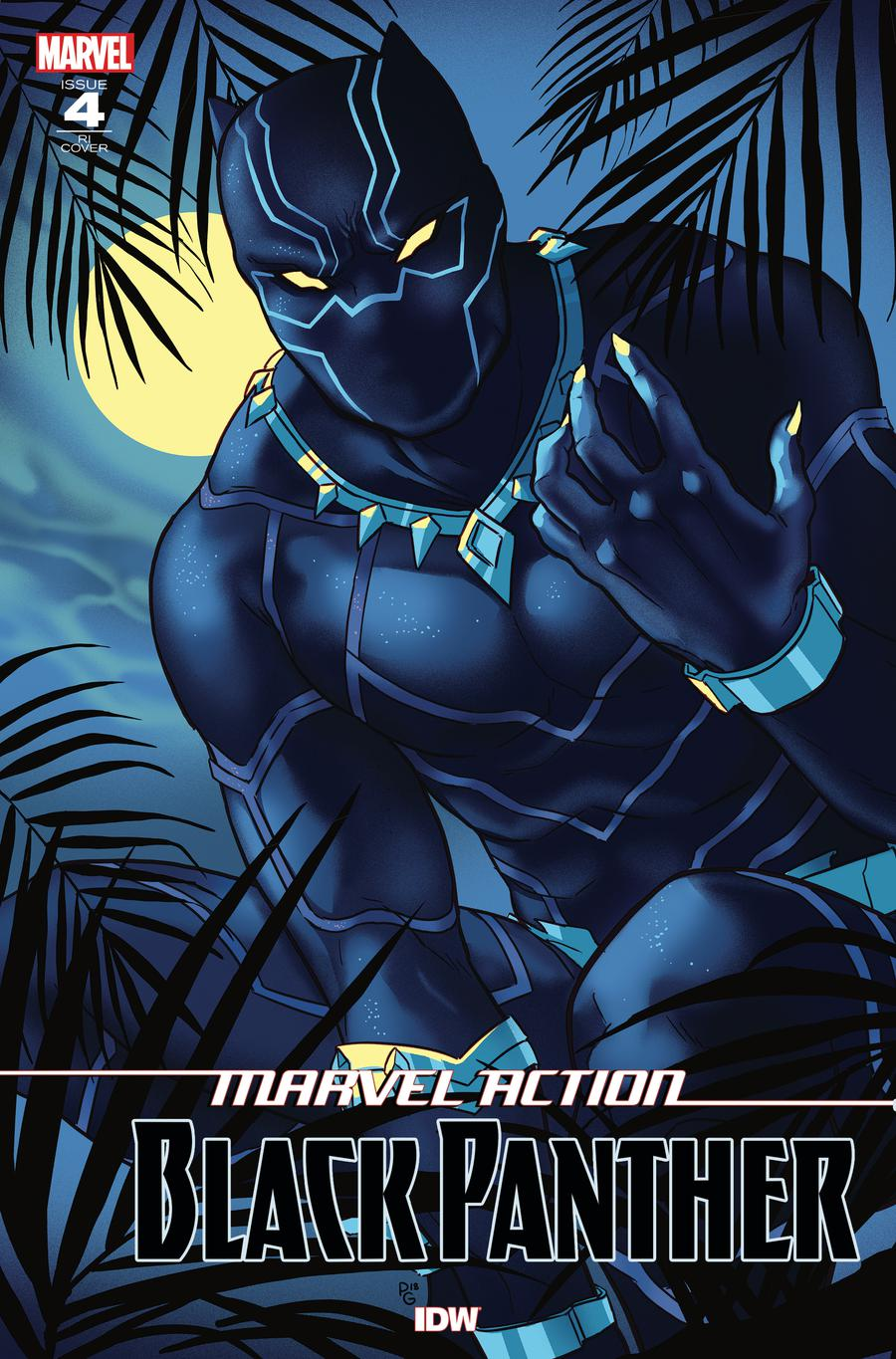 Marvel Action Black Panther #4 Cover B Incentive Paulina Ganucheau Variant Cover
