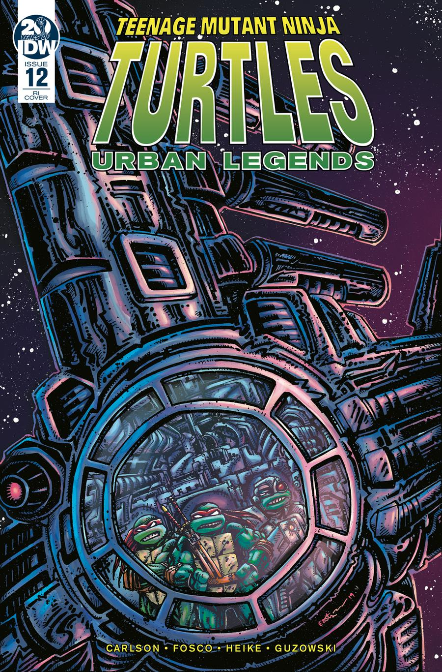 Teenage Mutant Ninja Turtles Urban Legends #12 Cover C Incentive Kevin Eastman Variant Cover