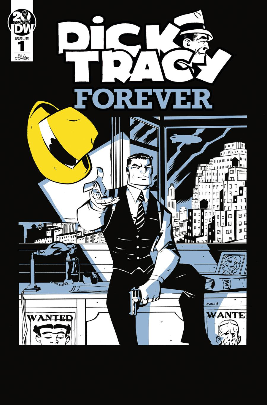 Dick Tracy Forever #1 Cover B Incentive Michael Avon Oeming Variant Cover