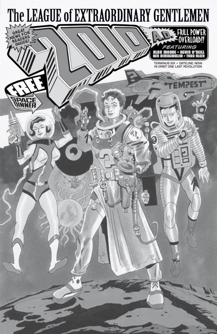 League Of Extraordinary Gentlemen Tempest #6 Cover B Incentive Kevin ONeill Variant Cover