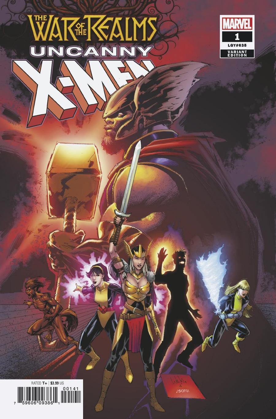 War Of The Realms Uncanny X-Men #1 Cover C Incentive Whilce Portacio Variant Cover