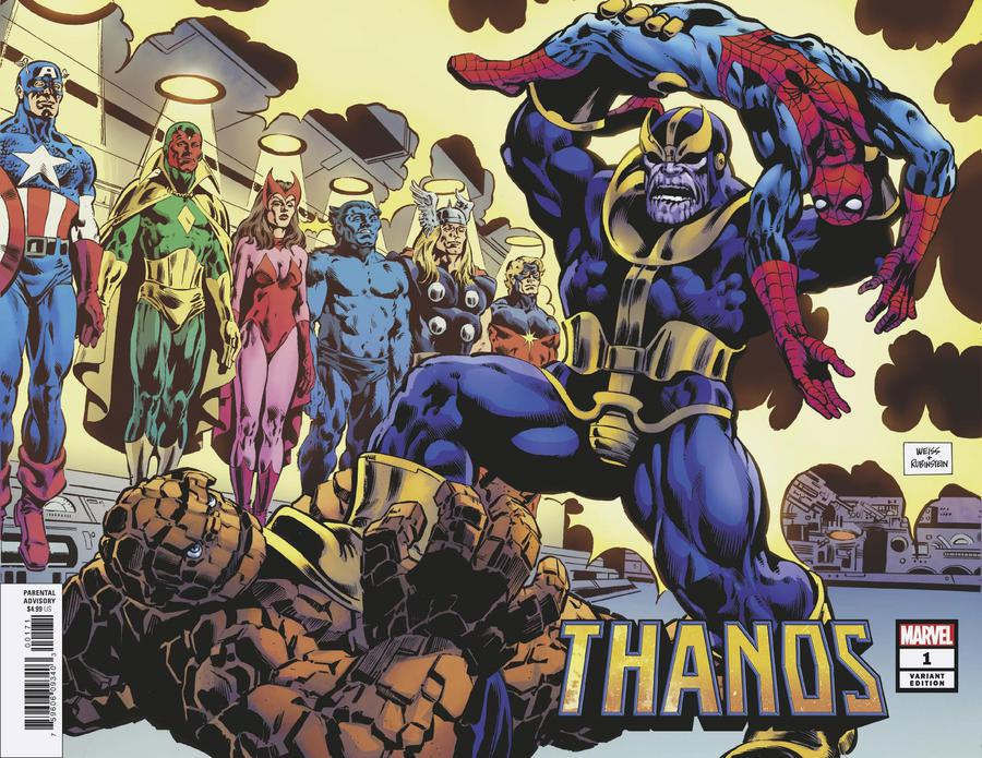 Thanos Vol 3 #1 Cover H Incentive Alan Weiss Hidden Gem Wraparound Cover