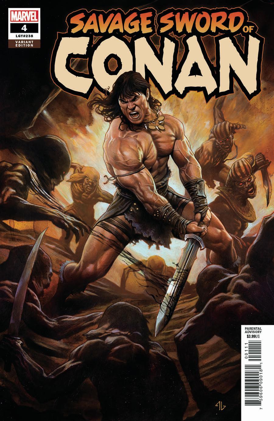 Savage Sword Of Conan #4 Cover B Incentive Adi Granov Variant Cover