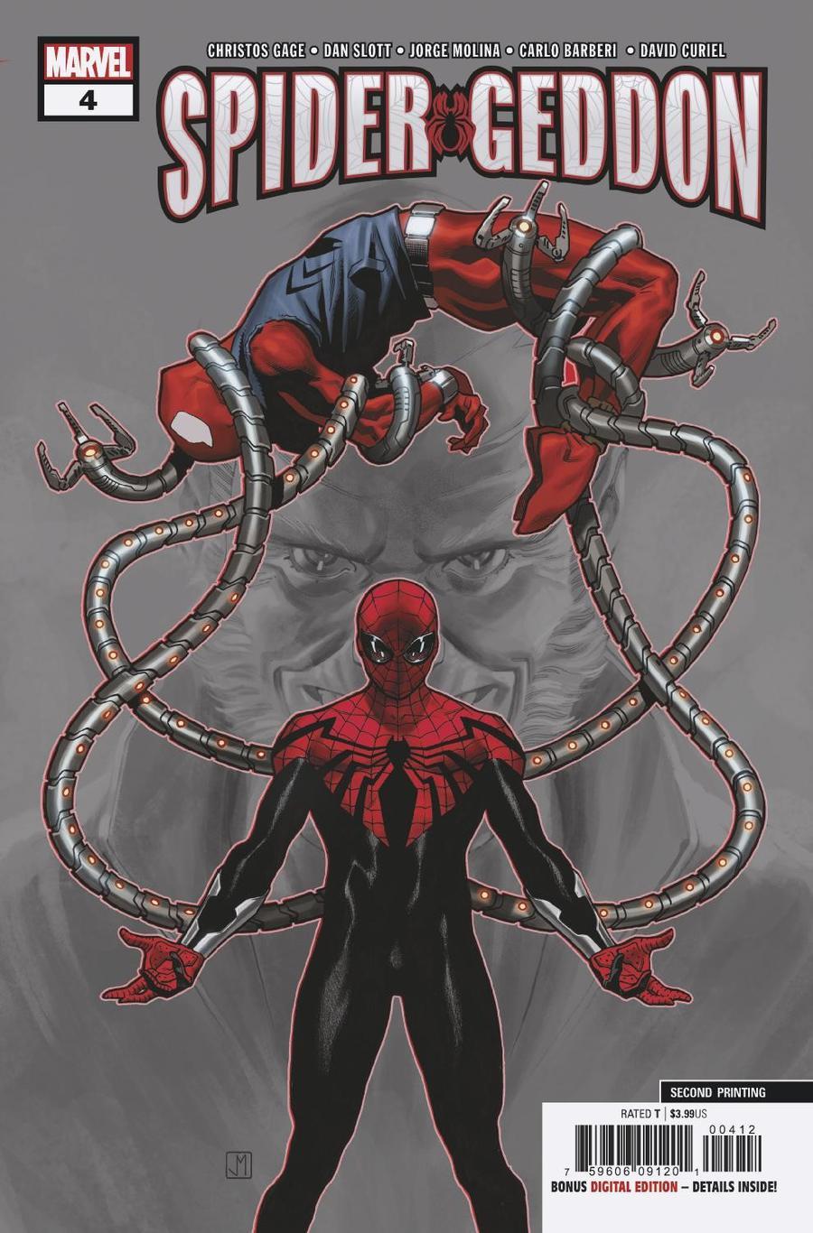 Spider-Geddon #4 Cover E 2nd Ptg Variant Carlo Barberi Cover