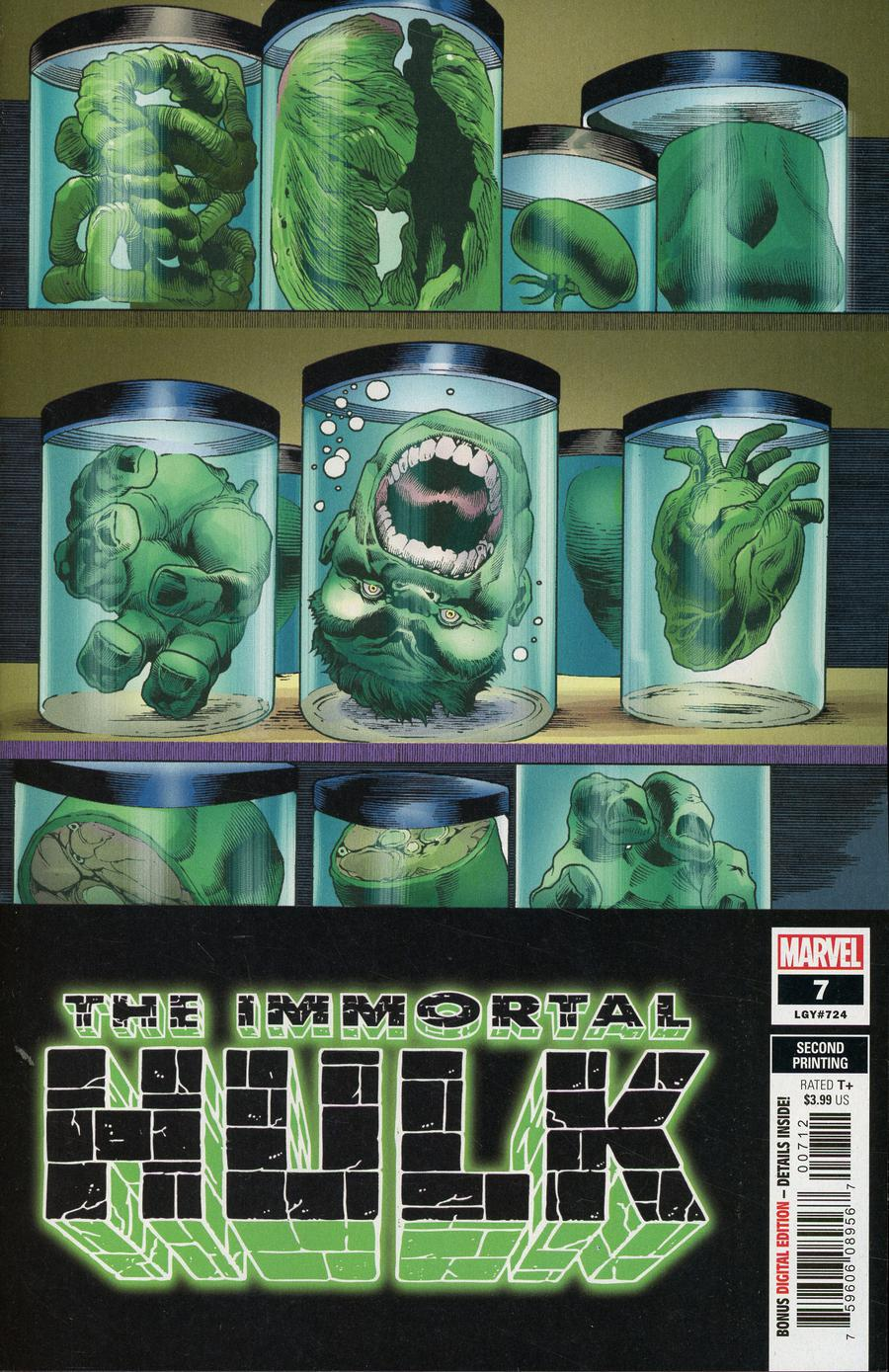 Immortal Hulk #7 Cover E 2nd Ptg Variant Joe Bennett Cover
