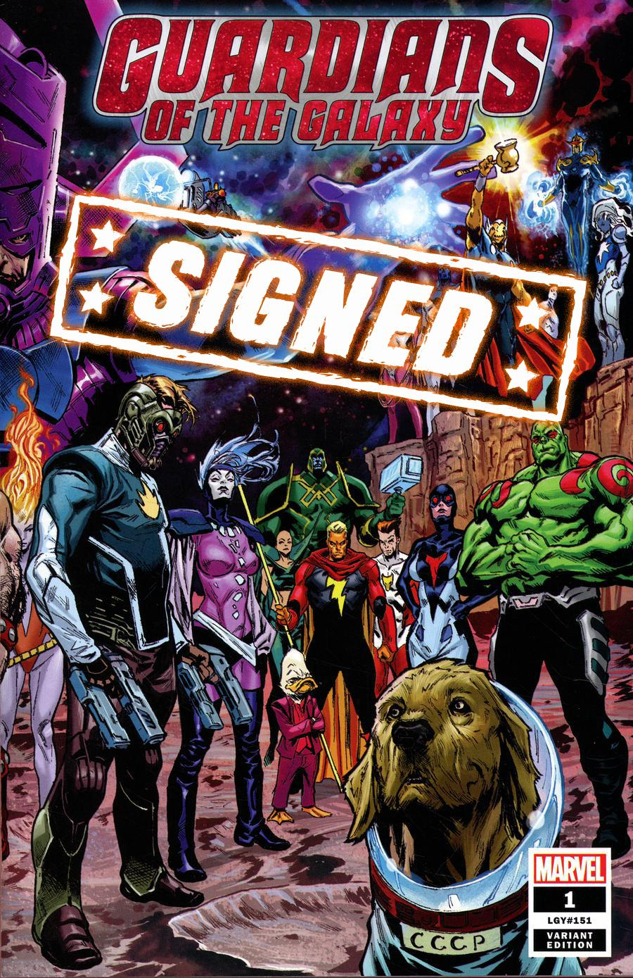 Guardians Of The Galaxy Vol 5 #1 Cover O Variant Geoff Shaw Wraparound Cover Signed By Donny Cates