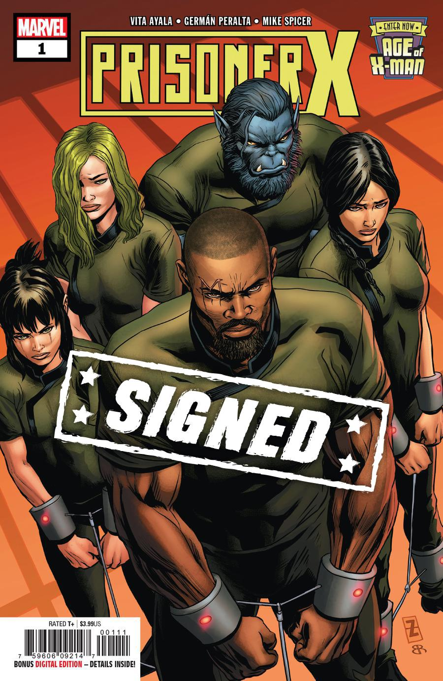 Age Of X-Man Prisoner X #1 Cover E Regular Patrick Zircher Cover Signed By Vita Ayala