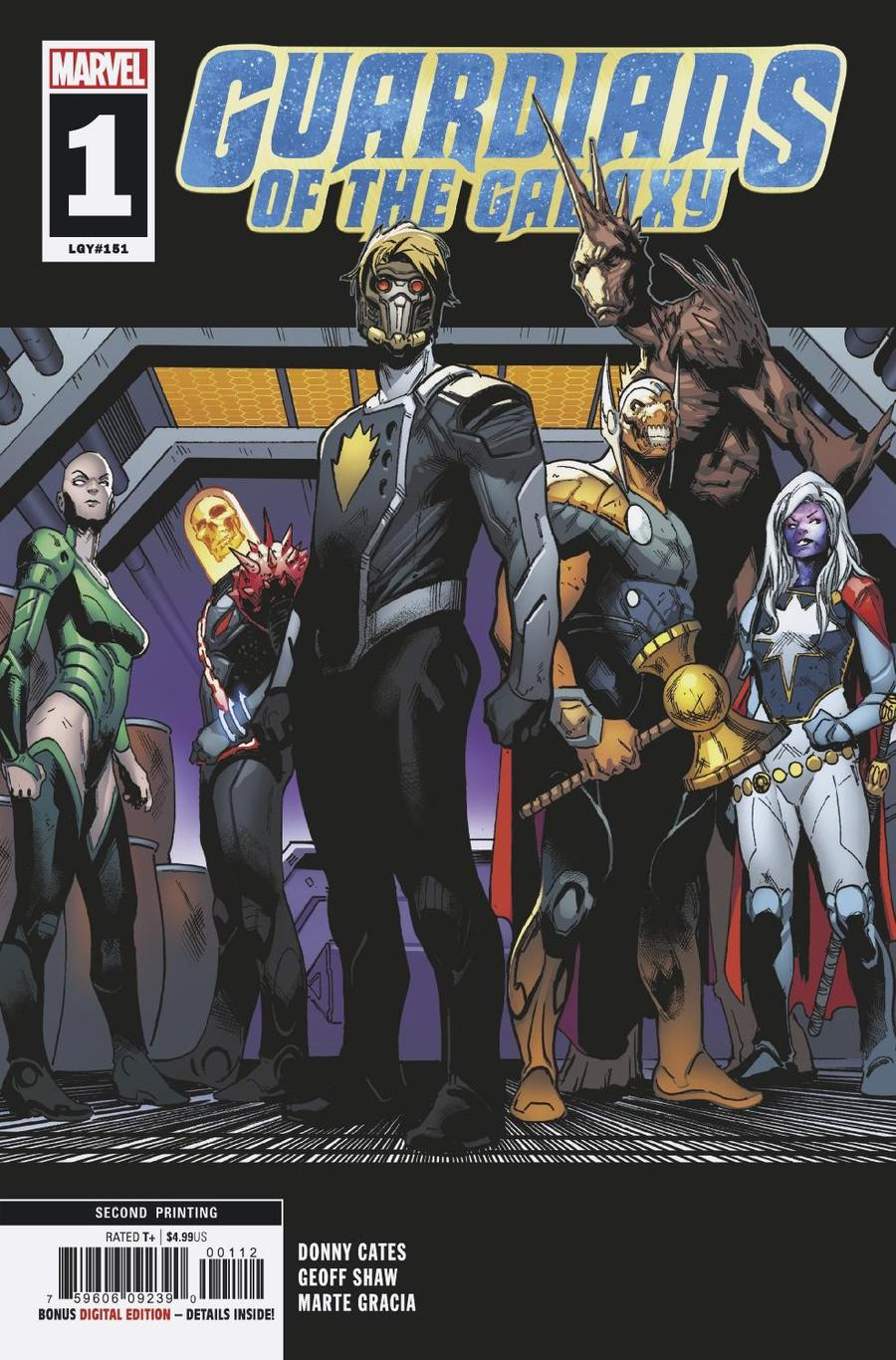 Guardians Of The Galaxy Vol 5 #1 Cover M 2nd Ptg Variant Geoff Shaw Cover