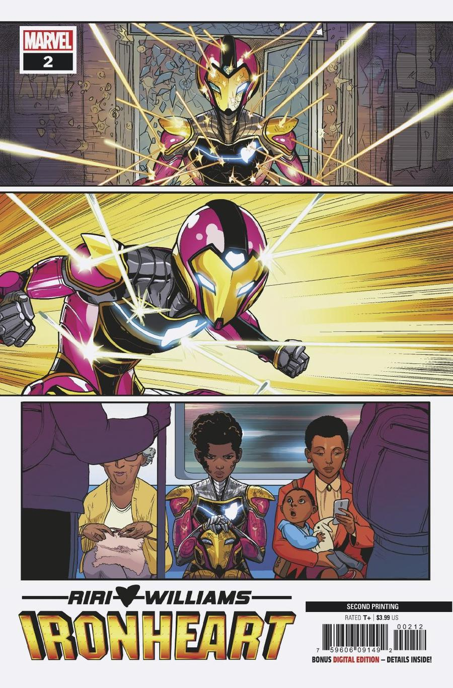 Ironheart #2 Cover B 2nd Ptg Variant Luciano Vecchio Cover