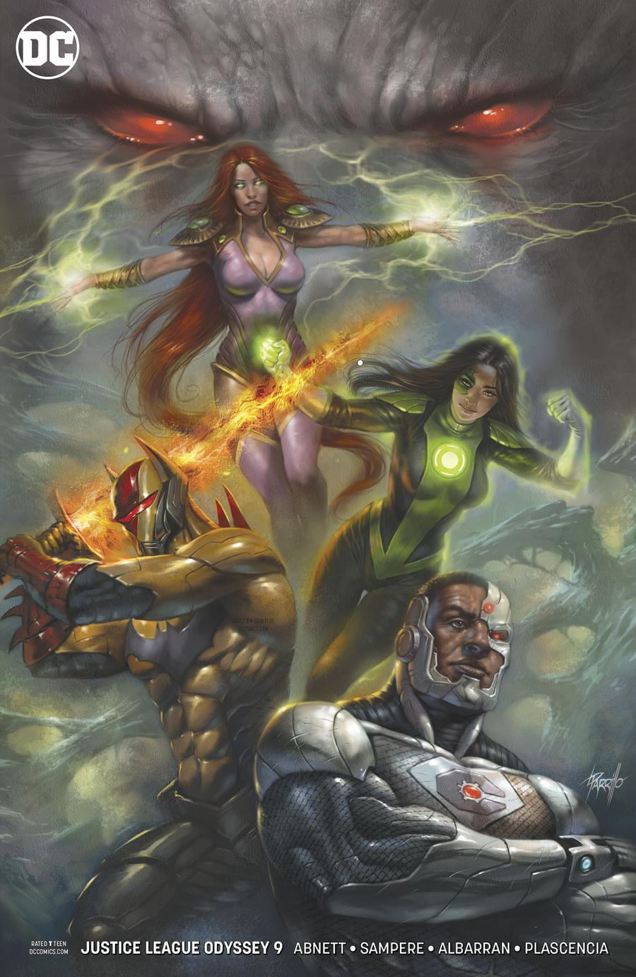 Justice League Odyssey #9 Cover B Variant Lucio Parrillo Cover