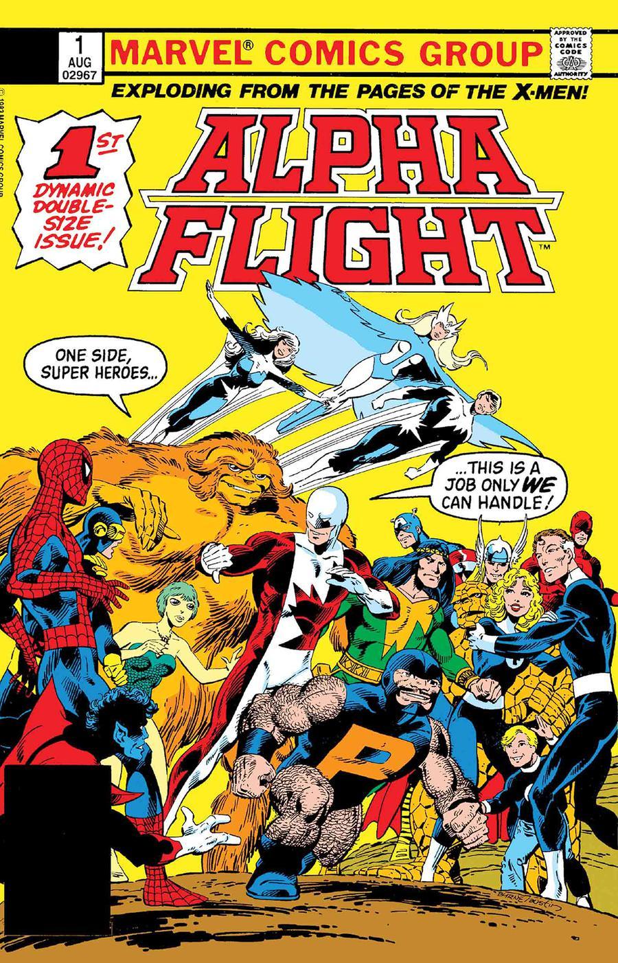 Alpha Flight #1 Cover B Facsimile Edition