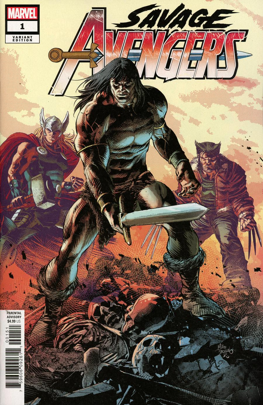 Savage Avengers #1 Cover B Variant Mike Deodato Jr Teaser Cover