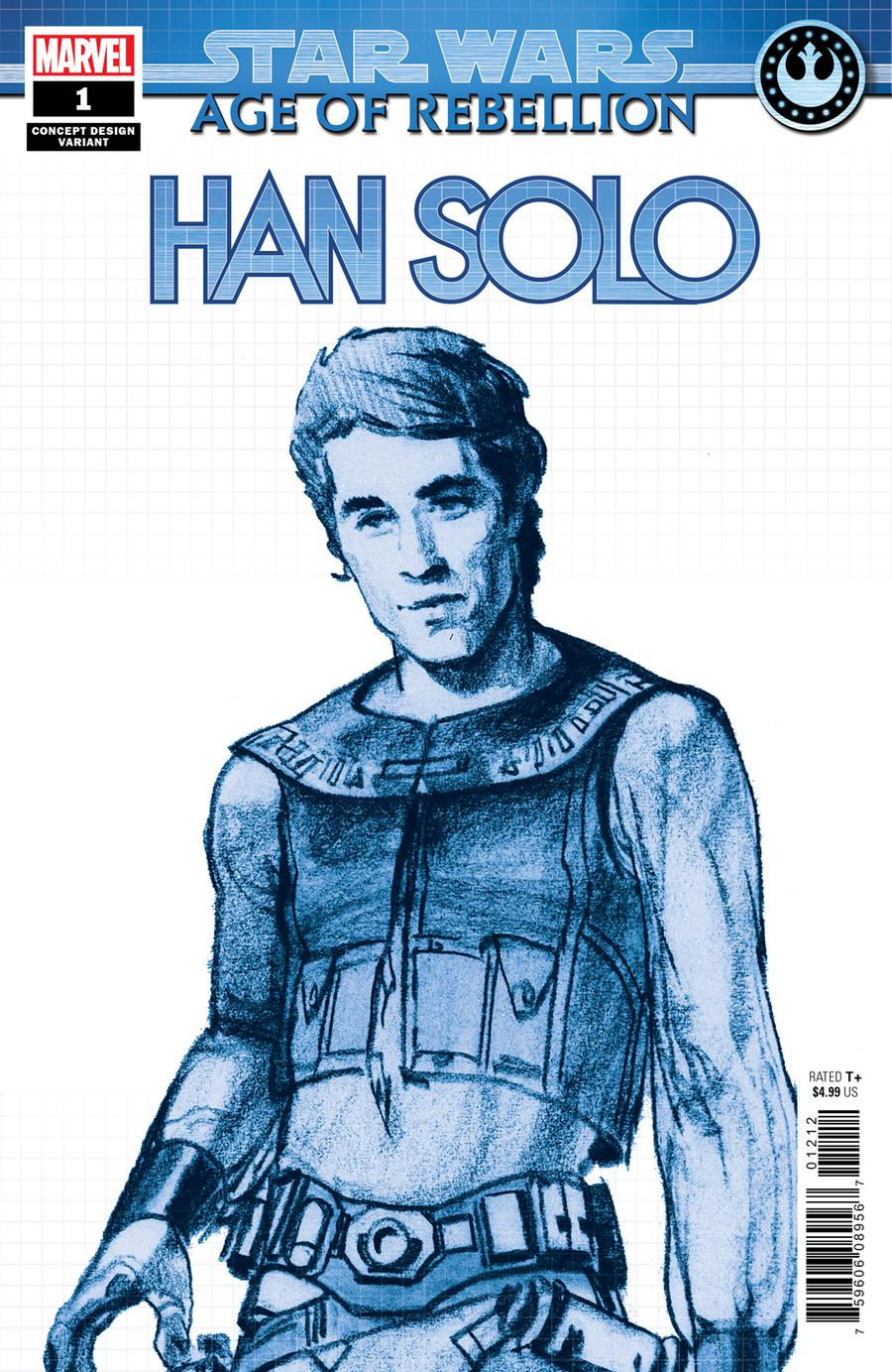 Star Wars Age Of Rebellion Han Solo #1 Cover B Variant Concept Design Cover