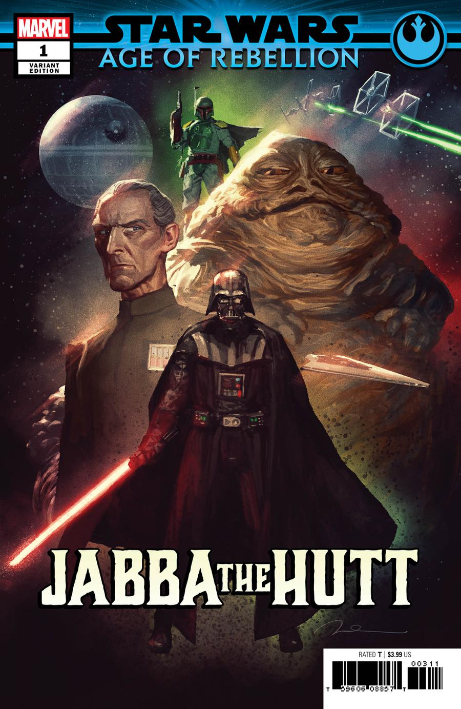 Star Wars Age Of Rebellion Jabba The Hutt #1 Cover C Variant Gerald Parel Villains Cover