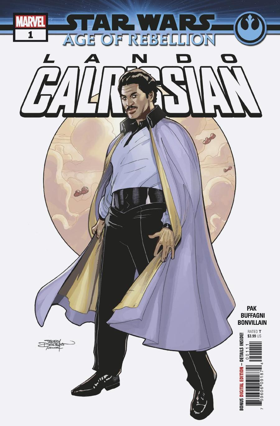Star Wars Age Of Rebellion Lando Calrissian #1 Cover A Regular Terry Dodson & Rachel Dodson Cover
