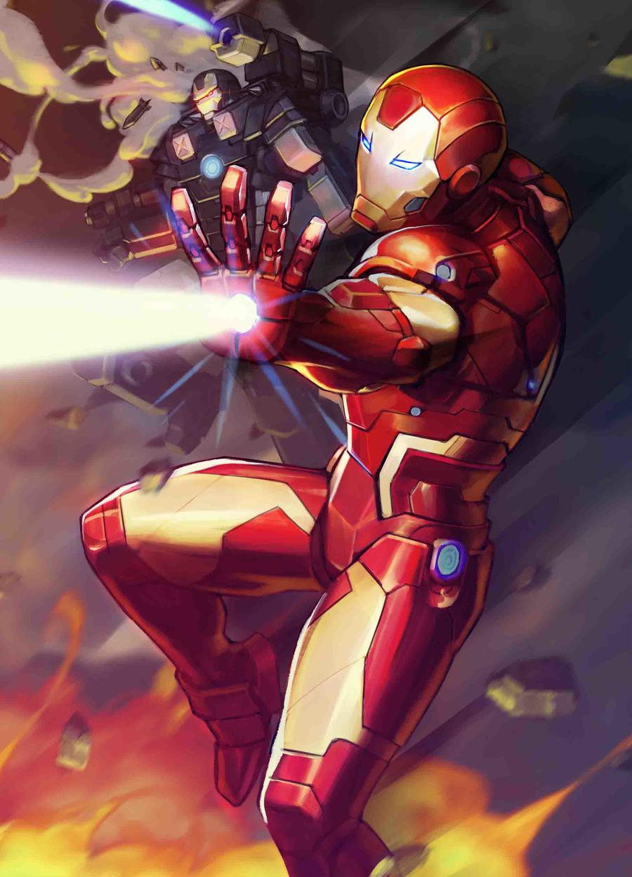 Tony Stark Iron Man #12 Cover B Variant Nexon Marvel Battle Lines Cover (War Of The Realms Tie-In)