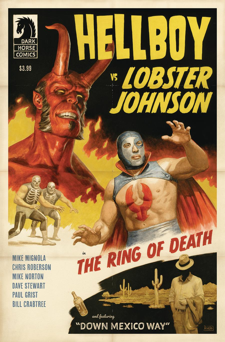 Hellboy vs Lobster Johnson Ring Of Death One Shot