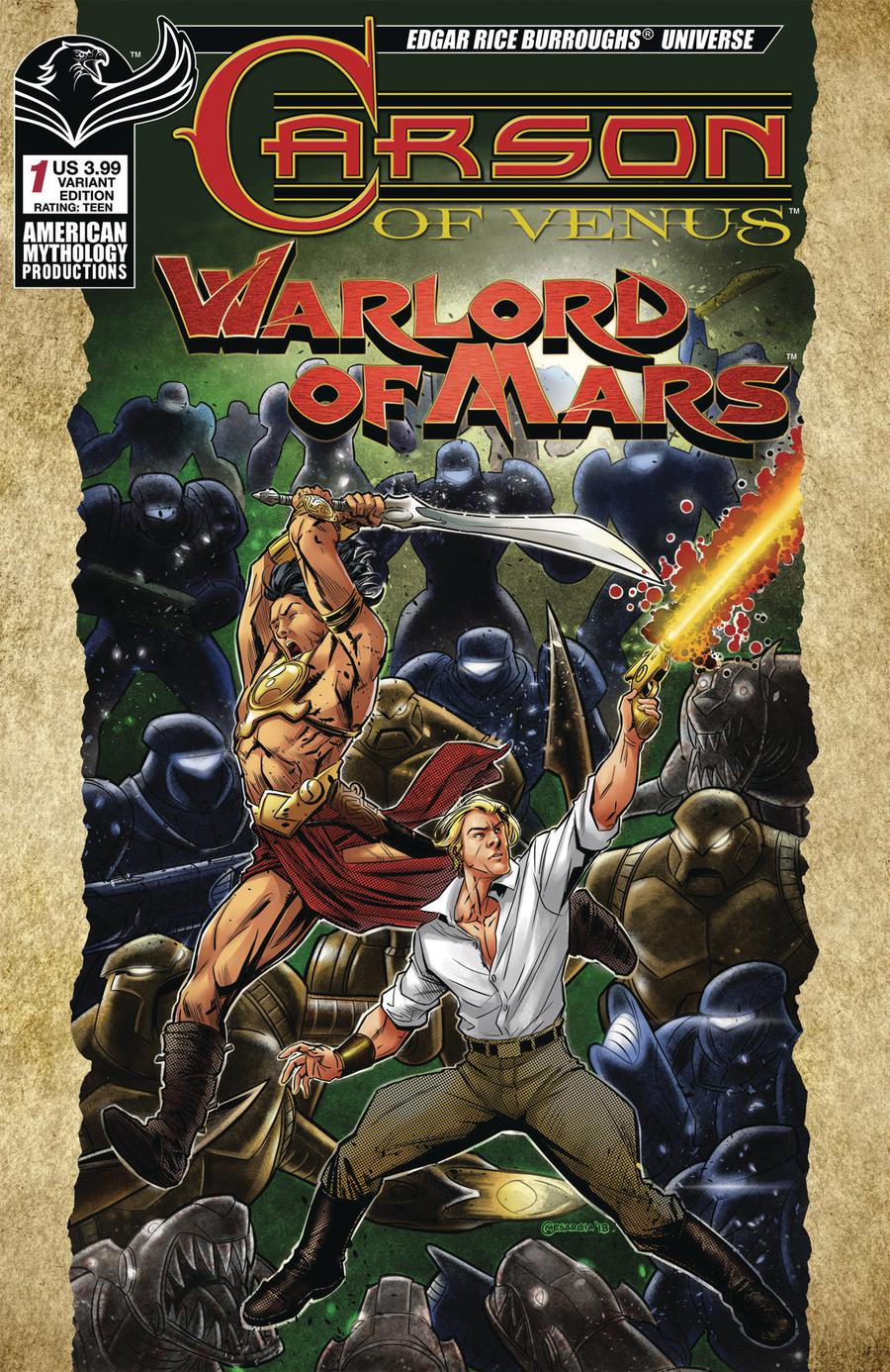 Carson Of Venus Warlord Of Mars #1 Cover B Variant Cyrus Mesarcia Warriors Cover