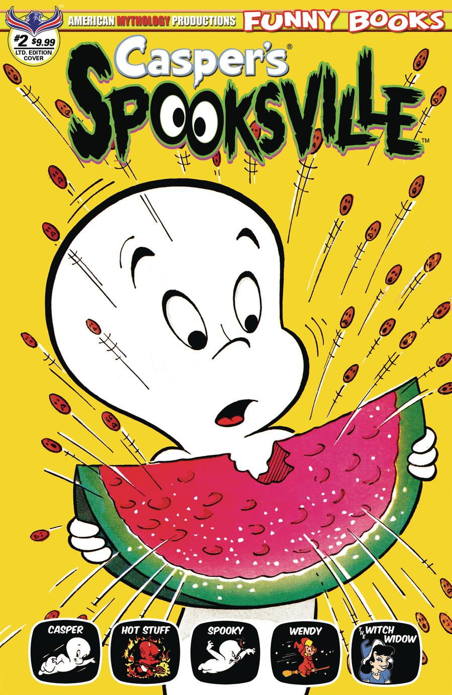 Caspers Spooksville #2 Cover C Variant Retro Animation Limited Edition Cover