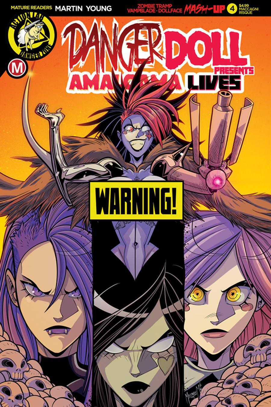 Danger Doll Squad Presents Amalgama Lives #4 Cover D Variant Marco Maccagni Artist Risque Cover