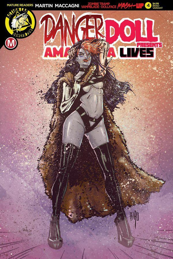 Danger Doll Squad Presents Amalgama Lives #4 Cover E Variant Brao Action Figue Cover
