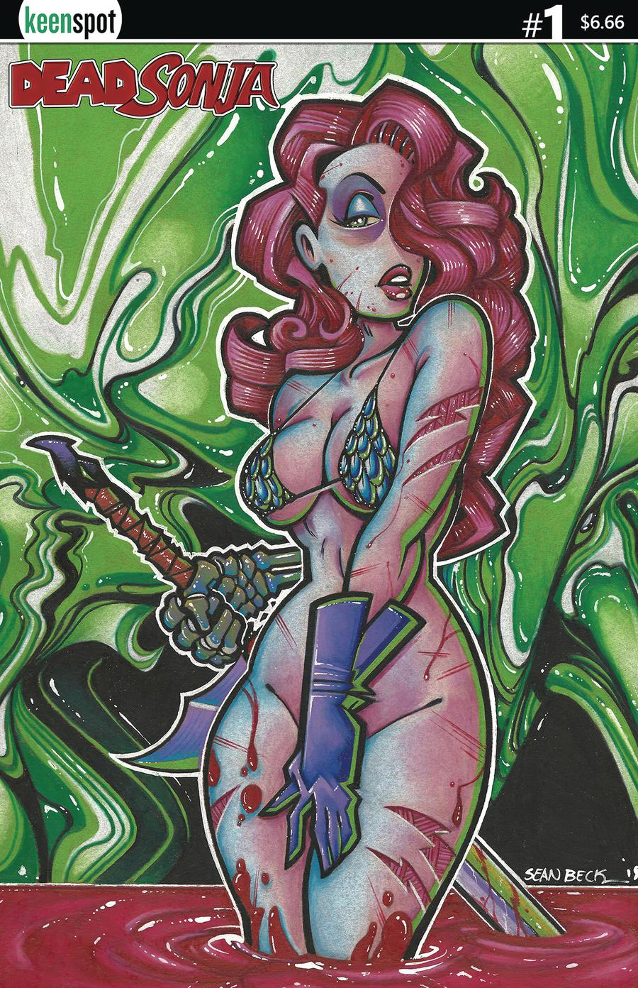 Dead Sonja #1 Cover C Variant Just Drawn That Way Cover