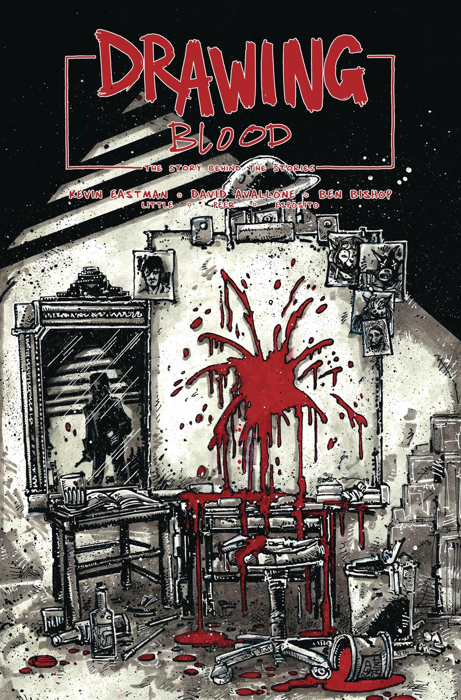 Drawing Blood Spilled Ink #1 Cover B Variant Kevin Eastman Cover