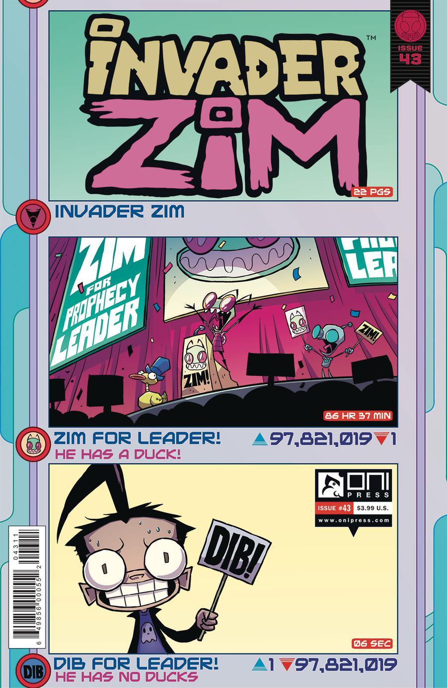 Invader Zim #43 Cover A Regular Warren Wucinich & Fred Stresing Cover
