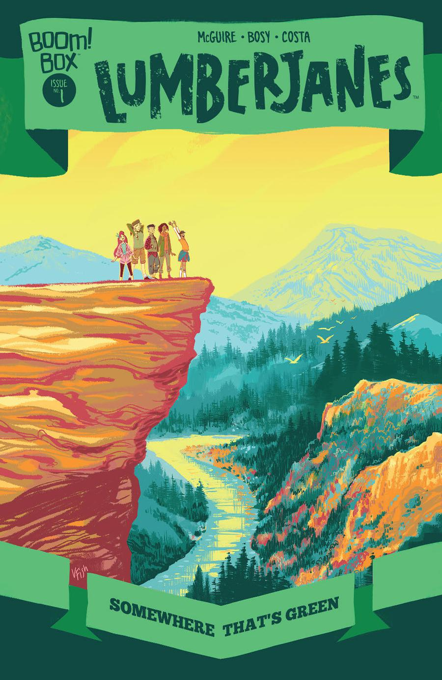 Lumberjanes Somewhere Thats Green #1 Cover B Variant Veronica Fish Preorder Cover