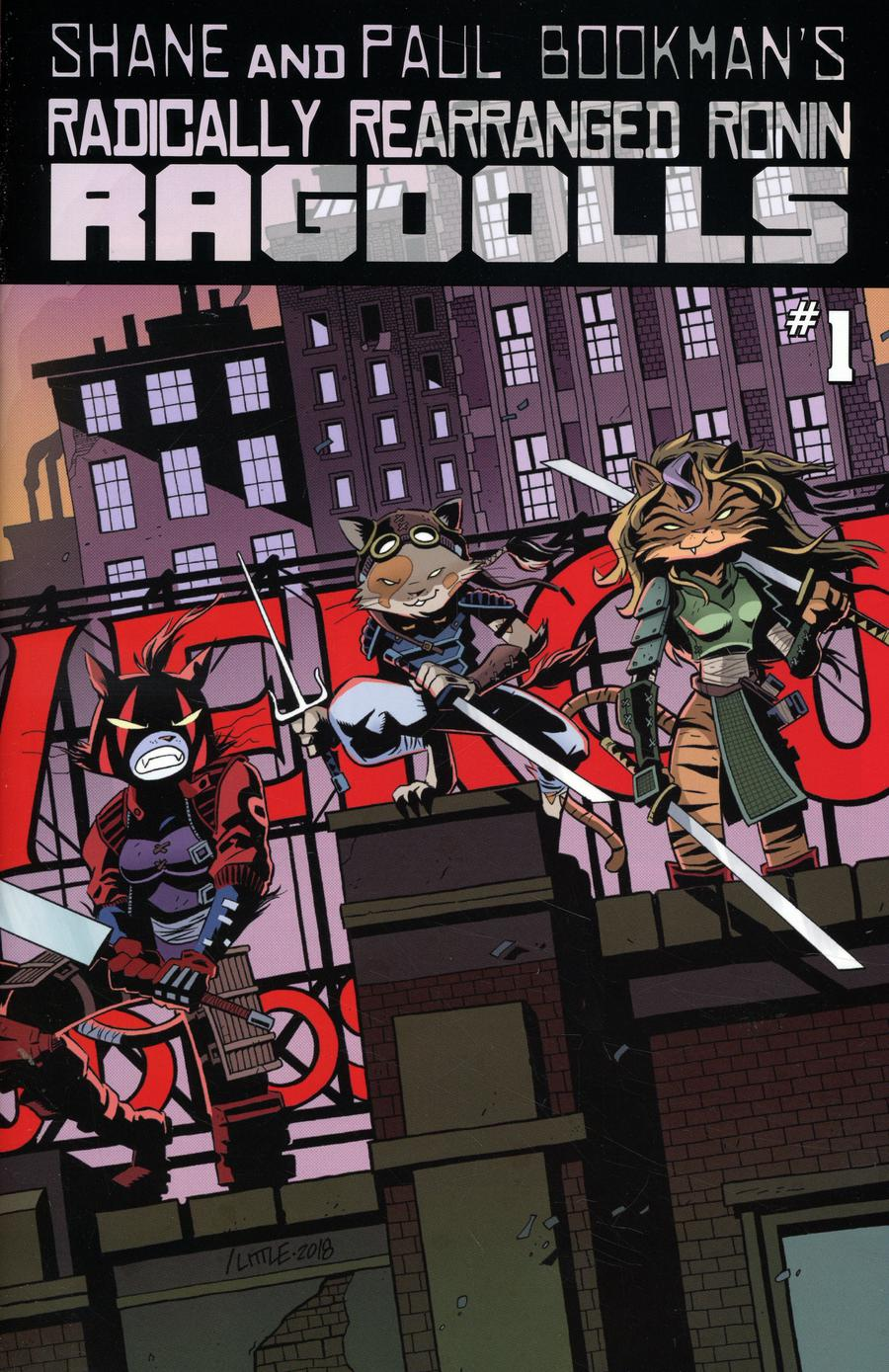 Radically Rearranged Ronin Ragdolls One Shot Cover A Regular Troy Little & Kevin Eastman Cover