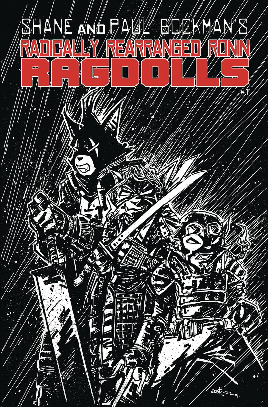 Radically Rearranged Ronin Ragdolls One Shot Cover B Variant Kevin Eastman Cover