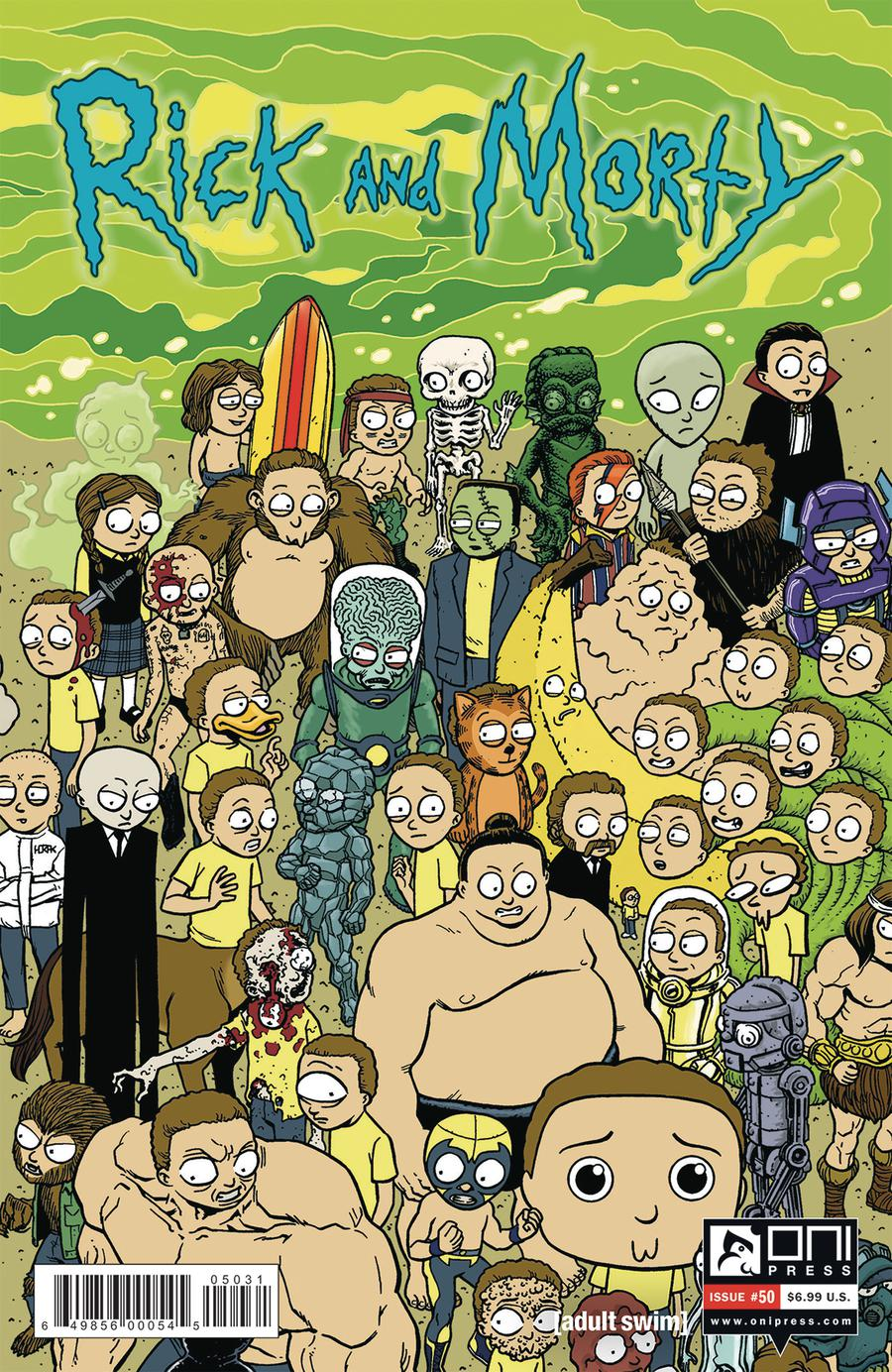 Rick And Morty #50 Cover C Variant Matt Horak Connecting Morty Cover