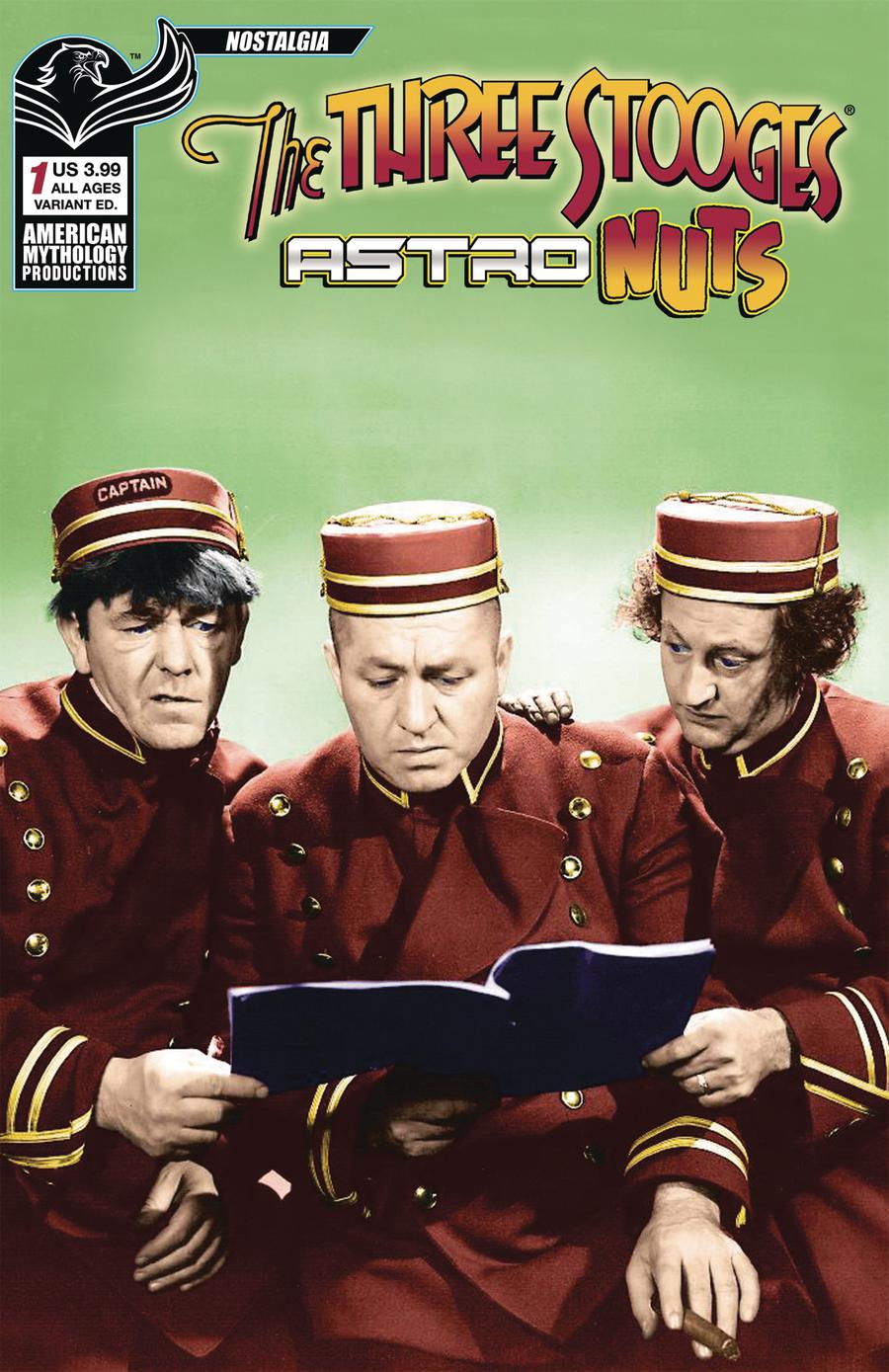 Three Stooges Astro Nuts #1 Cover B Variant Photo Color Cover